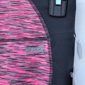 a16442f53d9206 Avia Pants   Nwt Space Dye Active Pink Drawcord Capri Xs   Poshmark